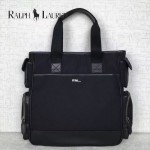 RALPH LAUREN-002-2 時尚休閒原單尼龍面料配牛皮手提單肩包