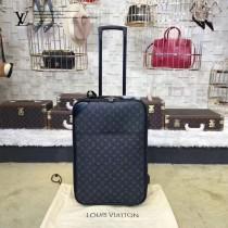 LV-00016 專櫃最新男士藤原浩系列黑花原版皮行李箱拉桿箱