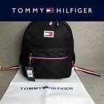 TOMMY HlLFlGER-003 新款男女通用黑色防水面料休閒雙肩包書包