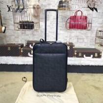 LV-00017 旅行必備男女款EPI黑色原版水波紋行李箱拉桿箱