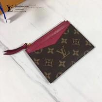 LV M62257-5 PORTE-CARTE ZIPPI 卡片夾全新Monogram帆布搭配彩色牛皮卡片夾