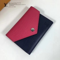 LV M62204 時尚帆布與小牛皮完美結合三折短款EIPI水波紋小巧可愛零錢包