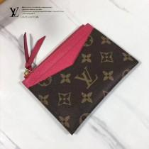 LV M62257-2 PORTE-CARTE ZIPPI 卡片夾全新Monogram帆布搭配彩色牛皮卡片夾