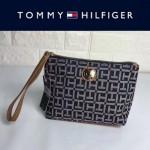 TOMMY HlLFlGER-002 輕便實用帆布材質大容量手拿包手機包可放PLUS