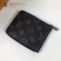 LV N61258-1 LV新款原單經典老花黑色ZIPPY短款拉鏈錢夾