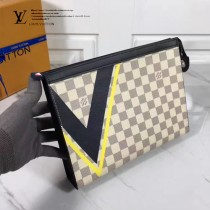 LV N60049 POCHETTE VOYAGE 2017年美洲杯系列專屬設計經典格紋圖案中號手袋