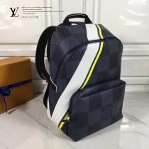 LV N44005 2017年美洲杯系列Damier格紋時尚經典雙肩包
