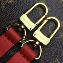 LV M44022-3 春夏系列Neonoe老花配紅色原版皮單肩水桶包