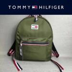 TOMMY HlLFlGER-003-5 新款男女通用軍綠色防水面料休閒雙肩包書包