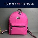 TOMMY HlLFlGER-003-6 新款男女通用枚紅色防水面料休閒雙肩包書包
