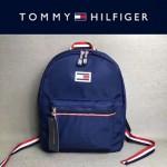 TOMMY HlLFlGER-003-3 新款男女通用藍色防水面料休閒雙肩包書包