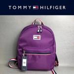TOMMY HlLFlGER-003-2 新款男女通用紫色防水面料休閒雙肩包書包