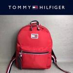 TOMMY HlLFlGER-003-4 新款男女通用紅色防水面料休閒雙肩包書包