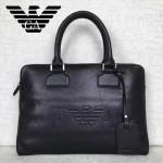 Emporio Armani-004荔枝紋牛皮男士薄款手提公文包配有防塵袋