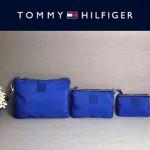 TOMMY HlLFlGER-005-3 輕便實用藍色防水面料手拎包手機包三件套裝
