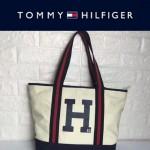 TOMMY HlLFlGER-0010-2 人氣爆款女士帆布大容量媽咪包購物袋