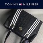 TOMMY HlLFlGER-006 時尚女士帆布配皮單肩購物袋