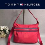 TOMMY HlLFlGER-008-2 春季新款紅色防水面料單肩斜挎包