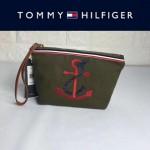 TOMMY HlLFlGER-0011-3 輕便實用小巧女士刺繡帆布手拎包手拿包