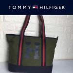 TOMMY HlLFlGER-0010-3 人氣爆款女士帆布大容量媽咪包購物袋
