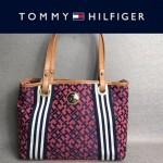 TOMMY HlLFlGER-006-2 時尚女士帆布配皮單肩購物袋