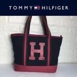 TOMMY HlLFlGER-0010-4 人氣爆款女士帆布大容量媽咪包購物袋