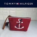 TOMMY HlLFlGER-0011 輕便實用小巧女士刺繡帆布手拎包 手拿包