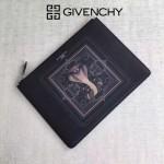Givenchy-0013-2 潮流男士眼鏡蛇十字紋牛皮薄款手拿包