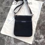 Calvin Klein-015 原單牛津布配牛皮男士斜挎包非常實用耐磨防水的材質磨砂電鍍高檔五金