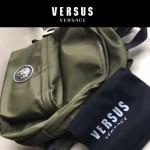 Versus-01-3 范瑟絲新款獅子頭LOGO尼龍防水面料雙肩包