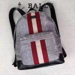 BALLY-005-3 正品防水尼龍配皮男士雙肩包