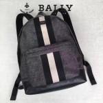 BALLY-005-2 正品防水尼龍配皮男士雙肩包
