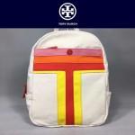 Tory Burch-002-2 托里伯奇女士新款帆布拼色條雙肩包書包