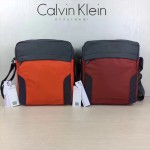 Calvin Klein Jeans-010-2 單肩斜挎包原單正品防水面料YKK拉鏈休閑輕便款橙色