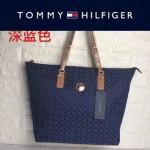 TOMMY HlLFlGER-0014-2 百搭新款深藍色帆布單肩購物袋