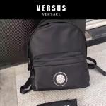 Versus-01 范瑟絲新款獅子頭LOGO尼龍防水面料雙肩包
