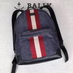 BALLY-005 正品防水尼龍配皮男士雙肩包