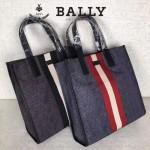 BALLY-006 正品防水尼龍配皮男士手提休閒袋