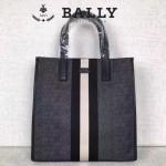 BALLY-006-2 正品防水尼龍配皮男士手提休閒袋
