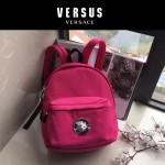 Versus-01-5 范瑟絲新款獅子頭LOGO尼龍防水面料雙肩包