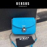 Versus-02-2 范瑟絲名媛新款藍色荔枝紋牛皮單肩斜挎包
