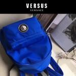 Versus-01-4 范瑟絲新款獅子頭LOGO尼龍防水面料雙肩包