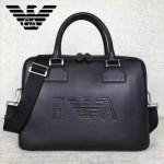 Armani-001 阿瑪尼商務男士荔枝紋牛皮手提單肩包公文包