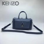 KENZO-025-2 新款女式枕頭包水滴logo牛皮壓大象紋手提單肩斜背包