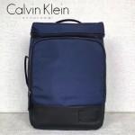 Calvin Klein-0042-2 專櫃男士新款藍色尼龍面料大容量雙肩包書包