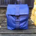 Calvin Klein-0020 時尚男女款寶藍色防水面料大號雙肩包書包