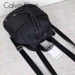 Calvin Klein-0043 潮流女士黑色尼龍面料小號束口雙肩包