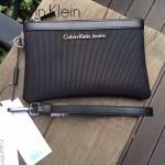 Calvin Klein-0012 新款男士牛津布配牛皮休閒手拿包