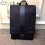 Calvin Klein-0019 專櫃新款降落傘面料配牛皮雙肩包書包