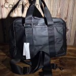 Calvin Klein-0035-2 專櫃經典款黑色防水面料大容量手提單肩包